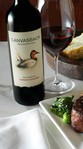 2013 Canvasback Red Mountain Washington State Cabernet Sauvignon on table
