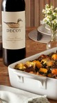 Decoy Cabernet Sauvignon paired with squash and kale strata