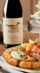 Decoy Pinot Noir paired with crispy tater tot waffles