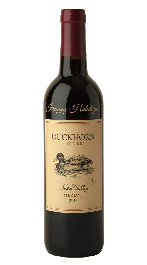 2017 Duckhorn Vineyards Napa Valley Merlot (Happy Holidays Etched)