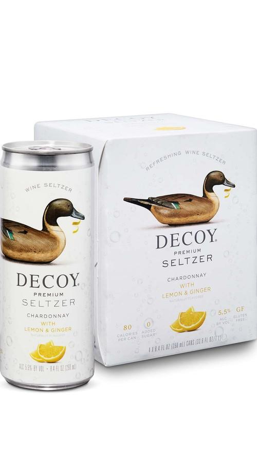 Decoy Premium Seltzer Chardonnay with Lemon & Ginger