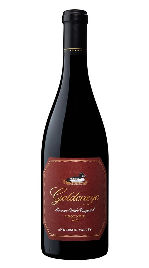 2018 Goldeneye Anderson Valley Pinot Noir Gowan Creek Vineyard