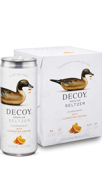 Decoy Premium Seltzer Chardonnay with Clementine Orange