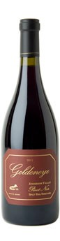 2011 Goldeneye Anderson Valley Pinot Noir Split Rail Vineyard