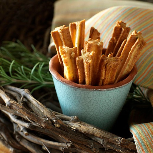 Rosemary Parmesan Cheese Straws