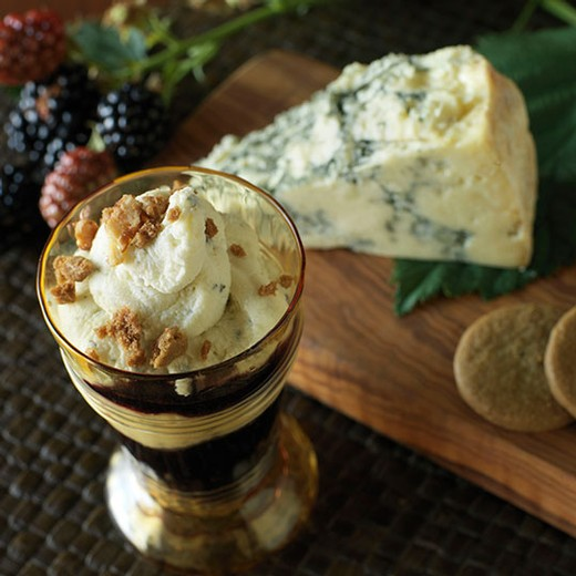 Blue Cheese Mousse Parfait