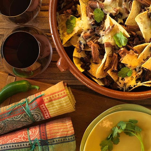 Brisket and Black Bean Nachos