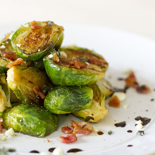 Brussel Sprouts with Pancetta and Vinaigrette