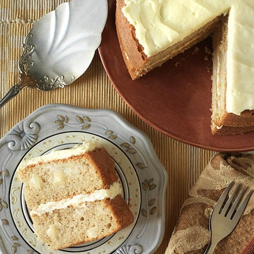 Spiced Pear Cake with Cream Cheese Frosting