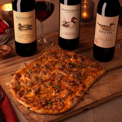 Caramelized Onion Flatbread with Sausage and Rosemary